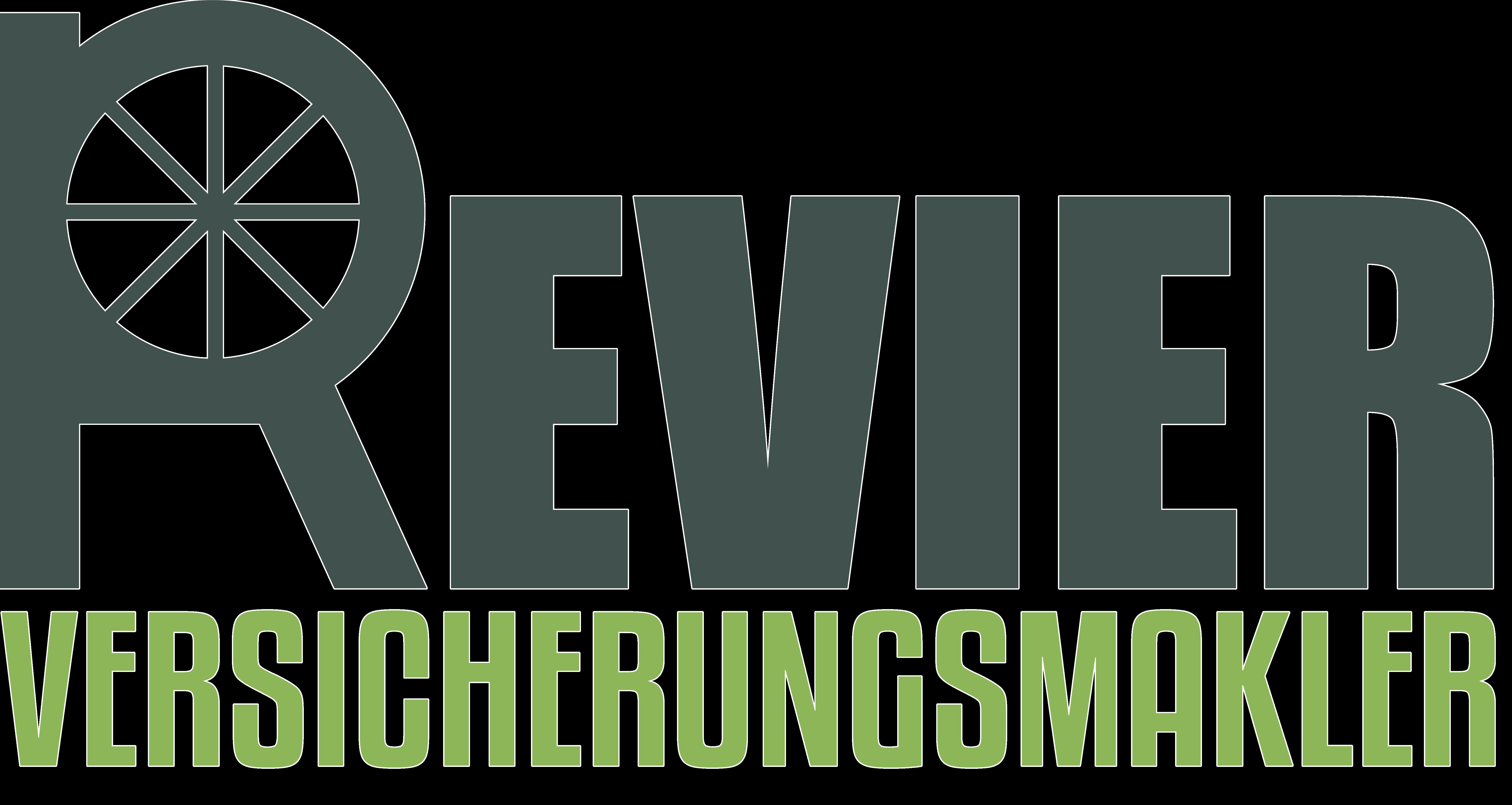 Logo Revier Versicherungsmakler mit weißem Rand